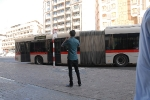 Some of the tourists are very fascinated by the Dubai buses.